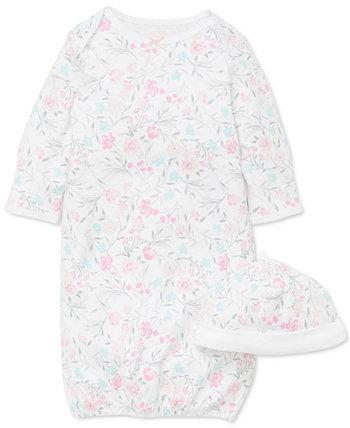 Baby Girls 2-шт. Комплект из хлопка с цветочным принтом Little Me