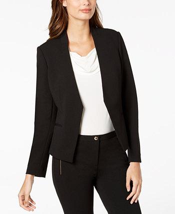 Миниатюрный пиджак асимметричного кроя с открытой передней частью Calvin Klein