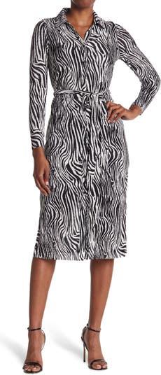 Платье с запахом и принтом зебры Collective Concepts