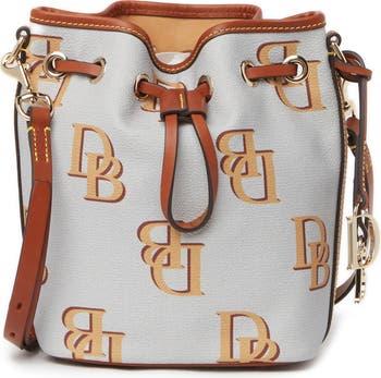 Маленькая сумка-ведро с монограммой и кулиской DOONEY AND BOURKE
