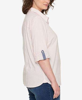 Хлопковая универсальная рубашка больших размеров Heritage, созданная для Macy's Tommy Hilfiger