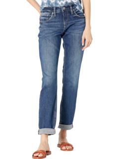 Джинсы-бойфренды со средней посадкой и узкими штанинами L27101EPX320 Silver Jeans Co.