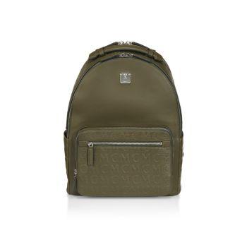 Кожаный рюкзак с тиснением логотипа MCM