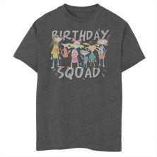 Футболка для мальчиков 8-20 Nickelodeon Hey Arnold Birthday Squad Group Shot с графическим рисунком Nickelodeon
