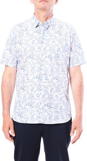 Спортивная рубашка с короткими рукавами и тропическим принтом Toscano