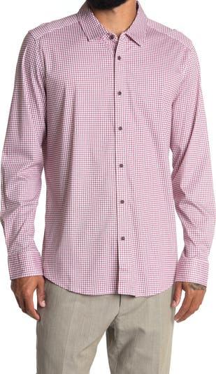 Рубашка из хлопка с длинным рукавом в клетку Raffi