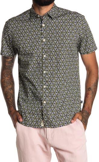 Рубашка из поплина с короткими рукавами и геометрическим принтом Civil Society
