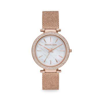 Часы Darci Pavé с браслетом из розового золота Michael Kors