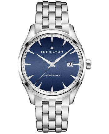 Мужские наручные часы Swiss Jazzmaster из нержавеющей стали с браслетом 40 мм Hamilton