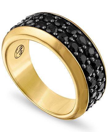 Черный сапфировый браслет (3 карата) из позолоченного серебра 925 пробы, созданный для Macy's Esquire Men's Jewelry