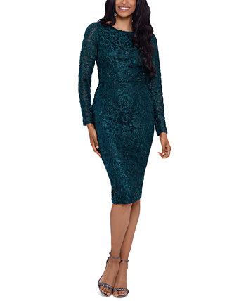 Платье-футляр с металлическим кружевом XSCAPE
