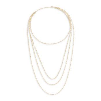 Многорядное колье Mega Gloss Blake из желтого золота 14 карат Lana Jewelry