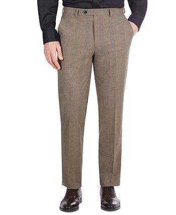 Мужской светло-коричневый костюм в клетку классического кроя с отдельными штанами Sean John