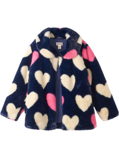 Winter Hearts Faux Fur Jacket (Toddler/Little Kids/Big Kids) Hatley Kids