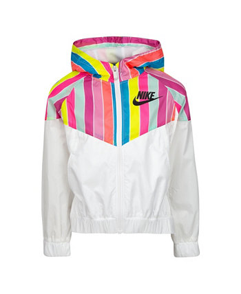 Полосатая ветрокрылая для маленьких девочек Nike