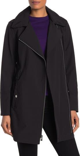 Куртка Soft Shell на молнии с водоотталкивающей отделкой из искусственной кожи с капюшоном Via Spiga