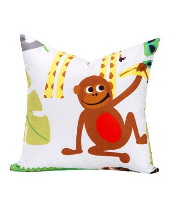 Дизайнерская декоративная подушка Jungle Love, 16 дюймов Crayola