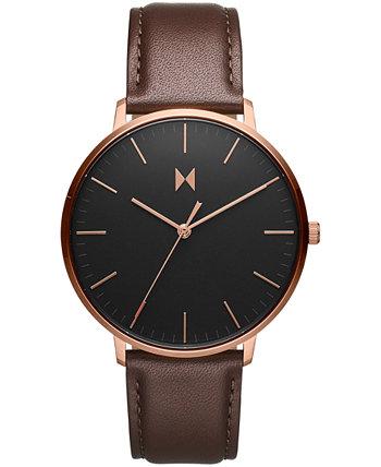 Мужские наручные часы Legacy с тонким коричневым кожаным ремешком, 42 мм MVMT