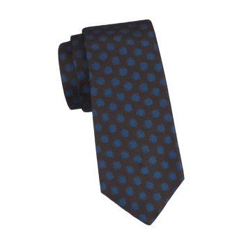 Шелковый галстук в горошек Kiton