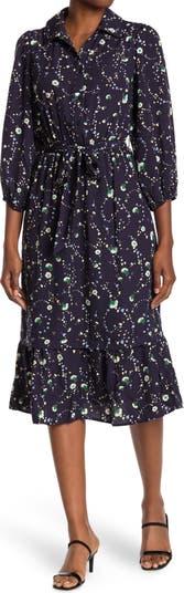 Миди-платье с цветочным принтом и воротником в виде сердца Collective Concepts
