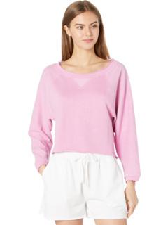 Льняной пуловер с короткими рукавами в стиле френч терри Chaser