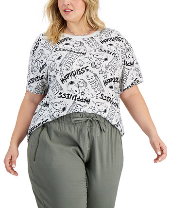 Модная футболка с изображением Snoopy больших размеров Freeze 24-7