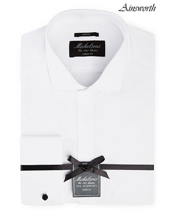 of London Мужская классическая / эластичная рубашка-смокинг из плотной французской манжеты Michelsons