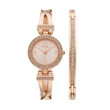 Женские часы и браслет с полукруглыми ремешками и кристаллами Folio Folio