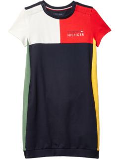 Миланское мультиблочное платье-толстовка (Little Kids / Big Kids) Tommy Hilfiger Adaptive