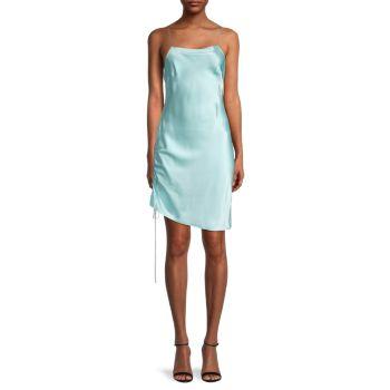 Шелковое платье-комбинация со сборками DANNIJO
