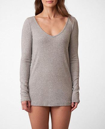 Рубашка Lounge с V-образным вырезом в рубчик Dreamer, только онлайн Skarlett Blue