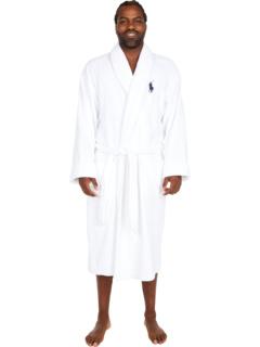 Халат с высоким воротником-шалью из махровой ткани Ralph Lauren