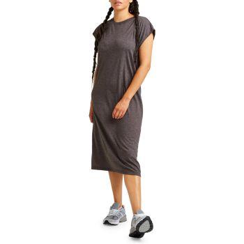 Легкое платье-футболка из смесового хлопка Richer Poorer