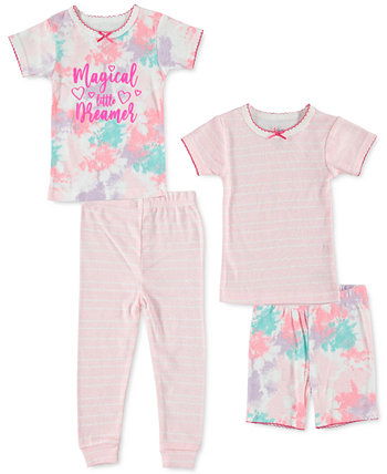 Baby Girls 4-Pc. Хлопковая пижама с принтом Cutie Pie Baby