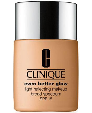 Еще лучше светящийся светоотражающий макияж SPF 15, 1 унция. Clinique