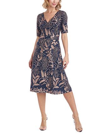 Платье трапециевидной формы с принтом JS Collections