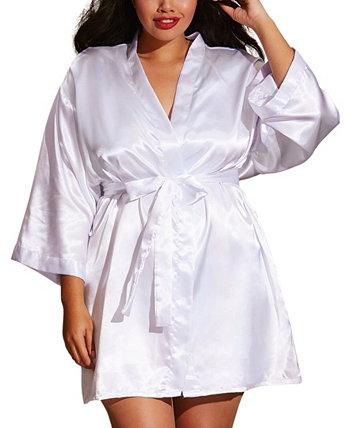Атласный халат и сорочка больших размеров Dreamgirl