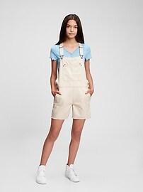Teen 100% Organic Cotton Denim Shortalls with Washwell Gap