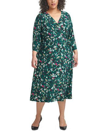 Plus Size Surplice Midi Dress Tommy Hilfiger