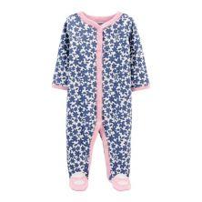 Baby Girl Carter's Floral Snap-Up Cotton Sleep & Play Carter's