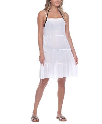 Многослойное платье-накидка с вырезом крючком Raviya