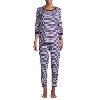 2-Piece Striped Pajama Set Carole Hochman