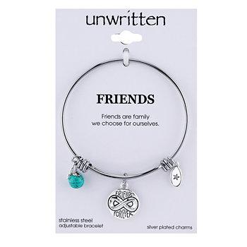 Браслет Friends Forever Infinity с подвеской и бирюзой (8 мм) из нержавеющей стали Unwritten