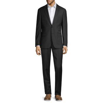 Шерстяной костюм сверхтонкого кроя из двух предметов Calvin Klein