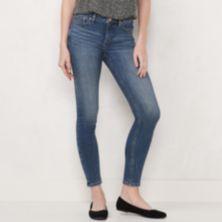 Женские джинсы скинни LC Lauren Conrad Feel Good со средней посадкой и 5 карманами LC Lauren Conrad
