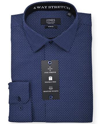 Мужская модная классическая рубашка с принтом Jones New York