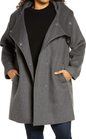 Stand Collar Wool Blend Coat Gallery