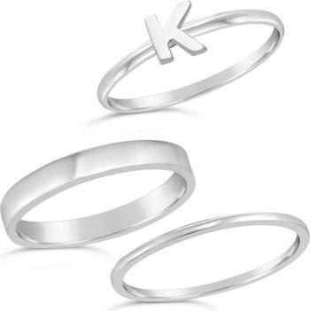 Первоначальное кольцо из стерлингового серебра - набор из 3 шт. Sterling Forever