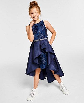 Юбка с вышивкой из микадо для больших девочек, платье с вышивкой Rare Editions
