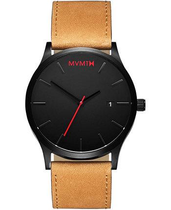Классические мужские часы с коричневым кожаным ремешком 45 мм MVMT